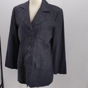 Bloomingdale's black linen blazer-sz 10